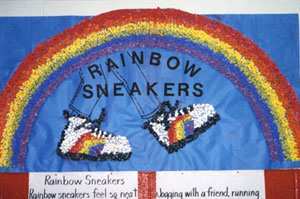 rainbow sneakers poster