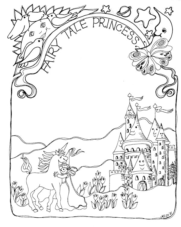 Download: Thumbelina Fairy Tale Coloring Page | Dover coloring ... | 754x600